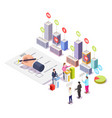 election campaign polling day isometric vector image vector image