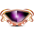 elegant purple shield on a white background vector image vector image