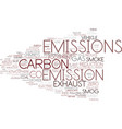 emission word cloud concept vector image vector image