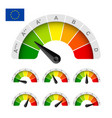european union energy efficiency rating vector image vector image