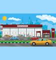 exhibition pavilion car dealership vector image vector image