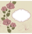 Floral background in retro with frame vector image vector image