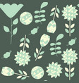 floral seamless green dark elegance pattern it is vector image