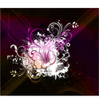 flower with abstract background vector image vector image