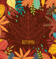 Frame of autumn leaves vector image vector image
