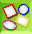 Frames or mirrors at bottom of a box-set2 vector image vector image