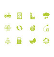 green energy environment icons set flat style vector image vector image