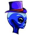 grey alien monster halloween cartoon vector image vector image