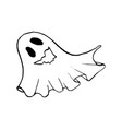 halloween doodle ghost element isolated vector image