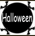 halloween with moon and bats with vector image