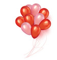 holidays background with floating party balloons vector image vector image