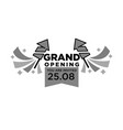 invitation to grand opening ceremony monochrome vector image