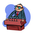 kind with a smile speaker man on podium vector image vector image