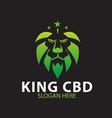 king cbd health logo designs green modern vector image