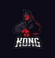 kong mascot logo design with modern vector image vector image