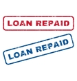 Loan Repaid Rubber Stamps vector image vector image