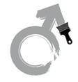 Man gender sign masculine concept Human sex symbol vector image vector image
