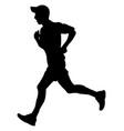 man running in cap vector image vector image