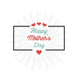 mother39s day on a white background vector image