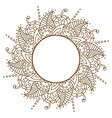 openwork cloth brown round frame brown vector image vector image