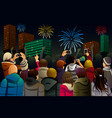 people celebrating new year vector image vector image