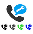 phone service message flat icon vector image vector image