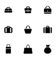 purse bag icons set vector image