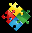 puzzle game vector image