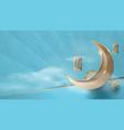 ramadan kareem gold moon and elements background vector image vector image