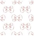 red bow seamless vector image vector image