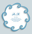 round frame with swirly paper border vector image