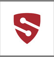 s shield logo vector image