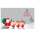 Santa with Dog and Reindeer vector image vector image