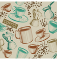 Seamless hand drawn coffee pattern vector image