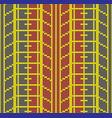 seamless knitting tire tracks vector image vector image