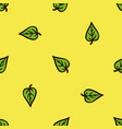 seamless pattern with green mint leaves vector image