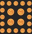 set anniversary emblems logo templates flat vector image vector image
