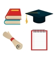 set education elements graphic isolated vector image