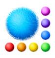 set of fur pompons vector image vector image