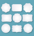 set of paper decorative frames vector image vector image