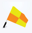 soccer referee flag vector image vector image