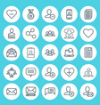 social icons set collection of communication vector image