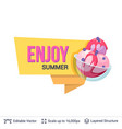 summer badge isolated on white vector image vector image