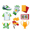 symbols for soccer competition vector image vector image