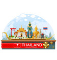 thailand thailand landmark and art background vector image vector image