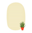 to do list planner template with green plant in vector image