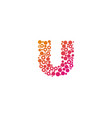 u particle letter logo icon design vector image