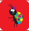 very fashionable beetle vector image vector image