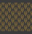 vintage pattern on a dark background vector image vector image