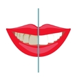 Whitening teeth before and after vector image
